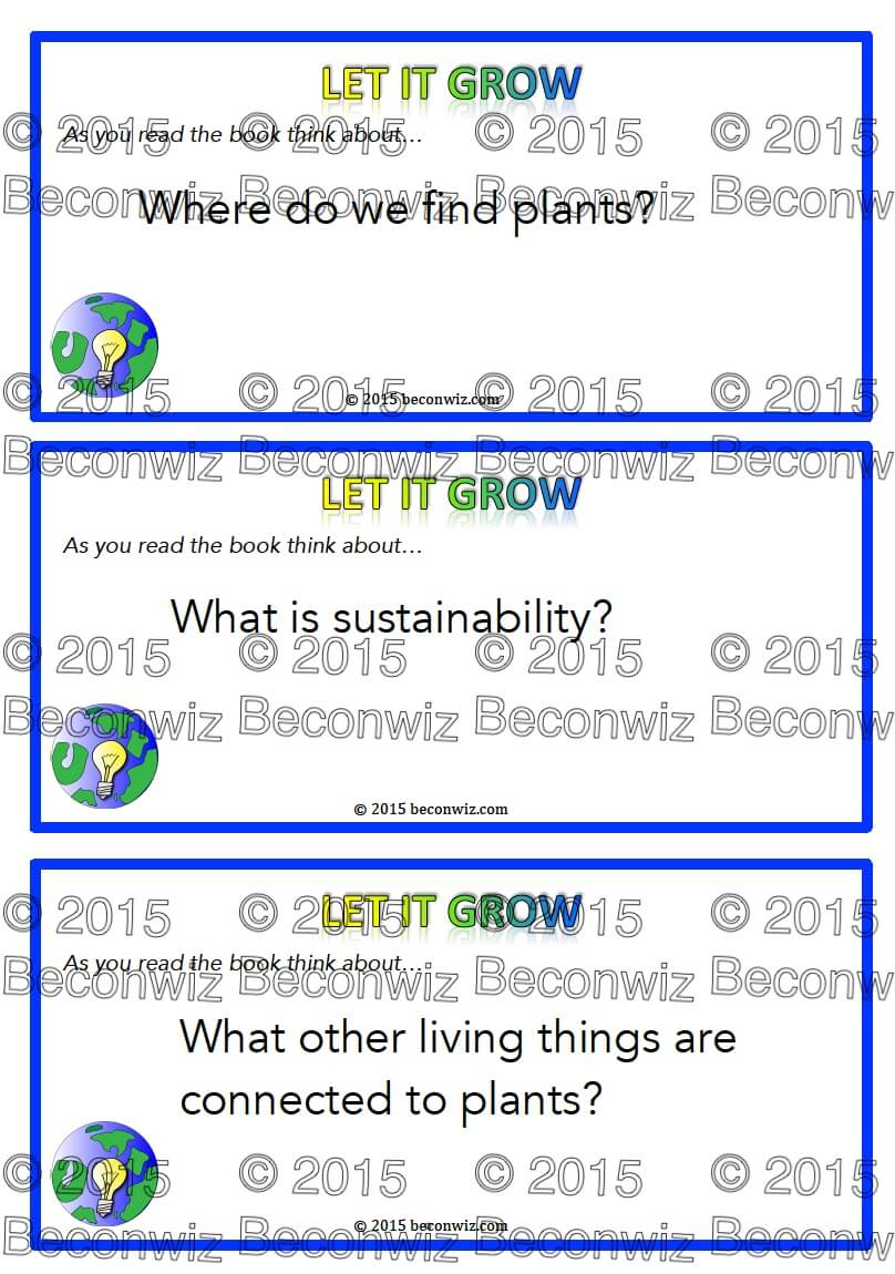 Plants - critical reading questions Plants - critical reading questions