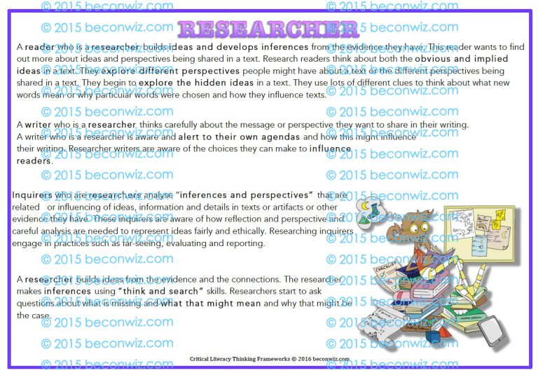 Critical Literacy - Collaborative poster