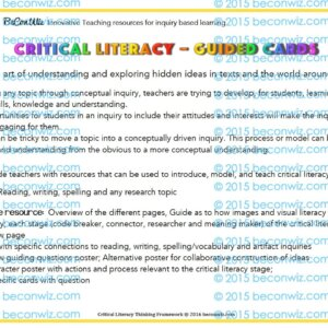 Critical Literacy Guided Cards