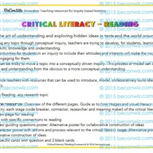 Critical Literacy reading