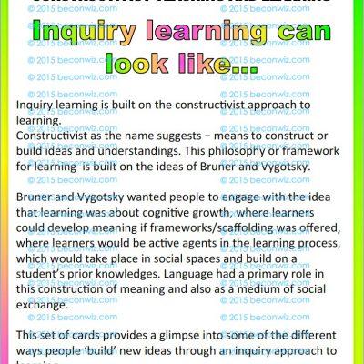 Inquiry teaching Constructivist teaching INQUIRY picture