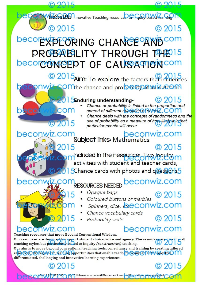 CHANCE AND PROBABILITY EXERCISES