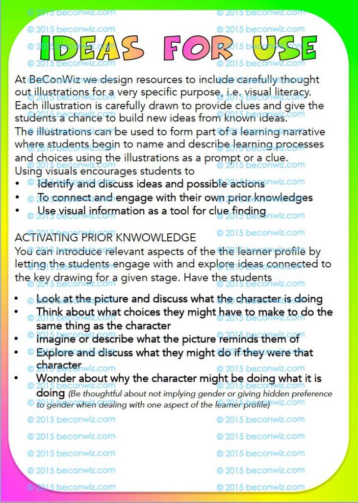IB PYP Learner profile Printable