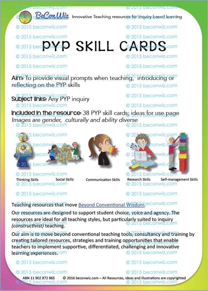 PYP Transdisciplinary Skills printable
