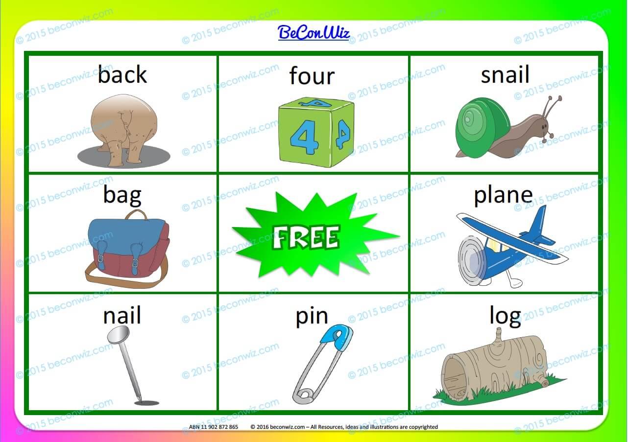 Bingo rhymes phrases