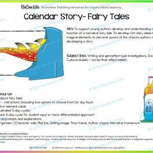 Fairy Tale Calendar Routine