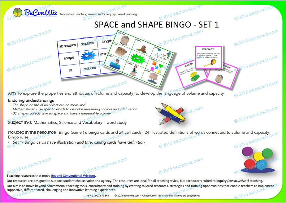 Space and Shape Bingo