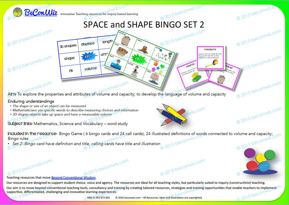 Shape and Space Bingo