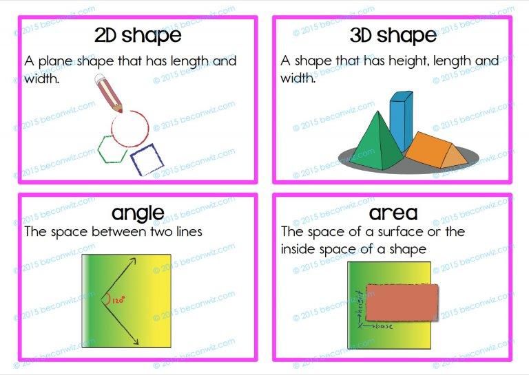 Shape Attributes Bingo