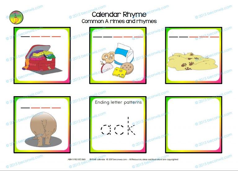 rhyming calendar routine