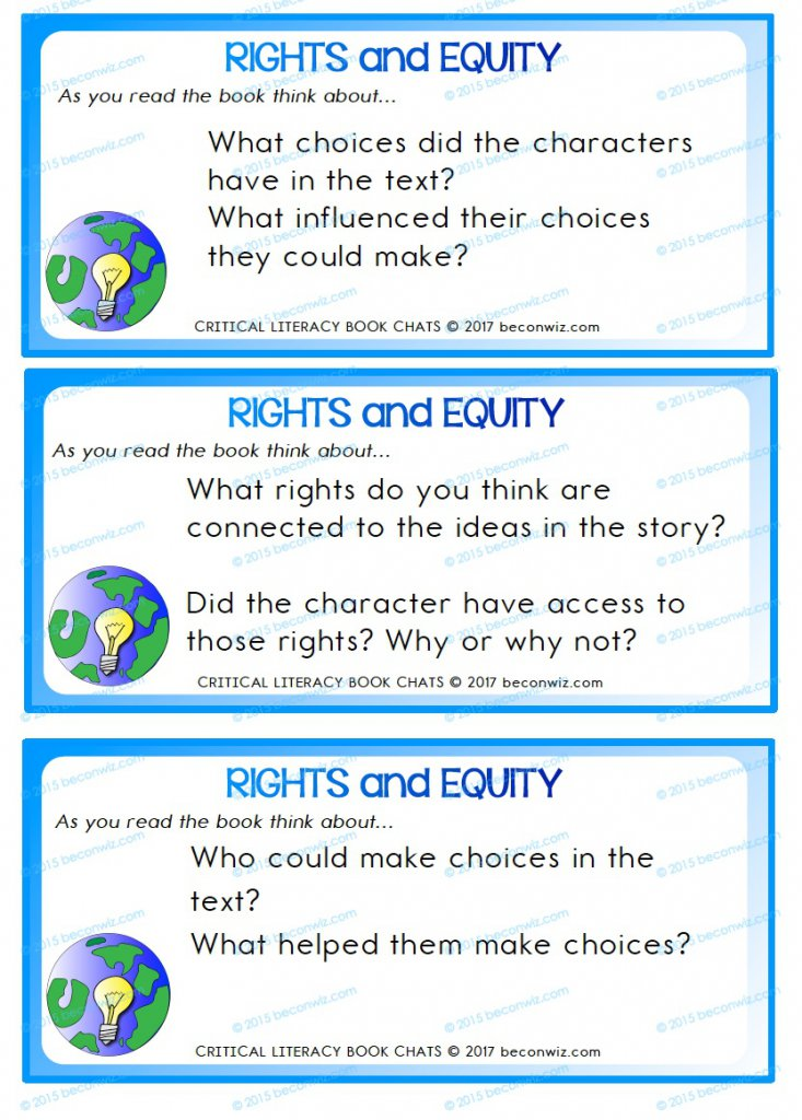 Children's Rights Book Chat Cards