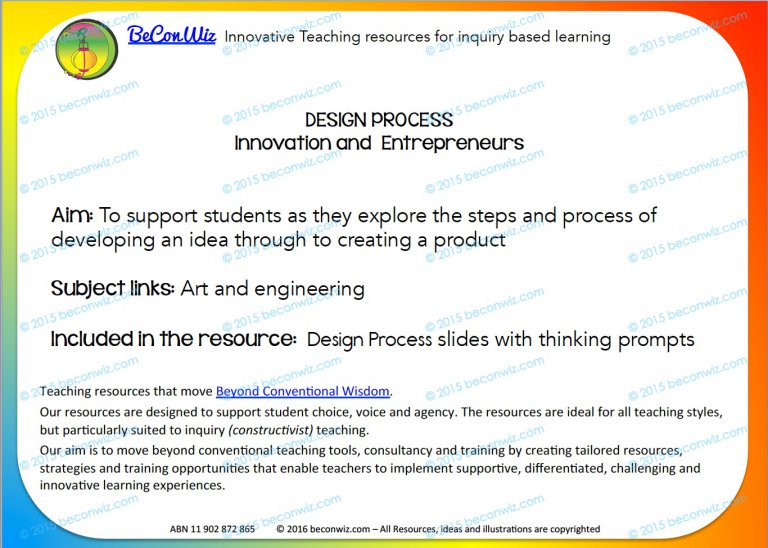 Design Process for Students
