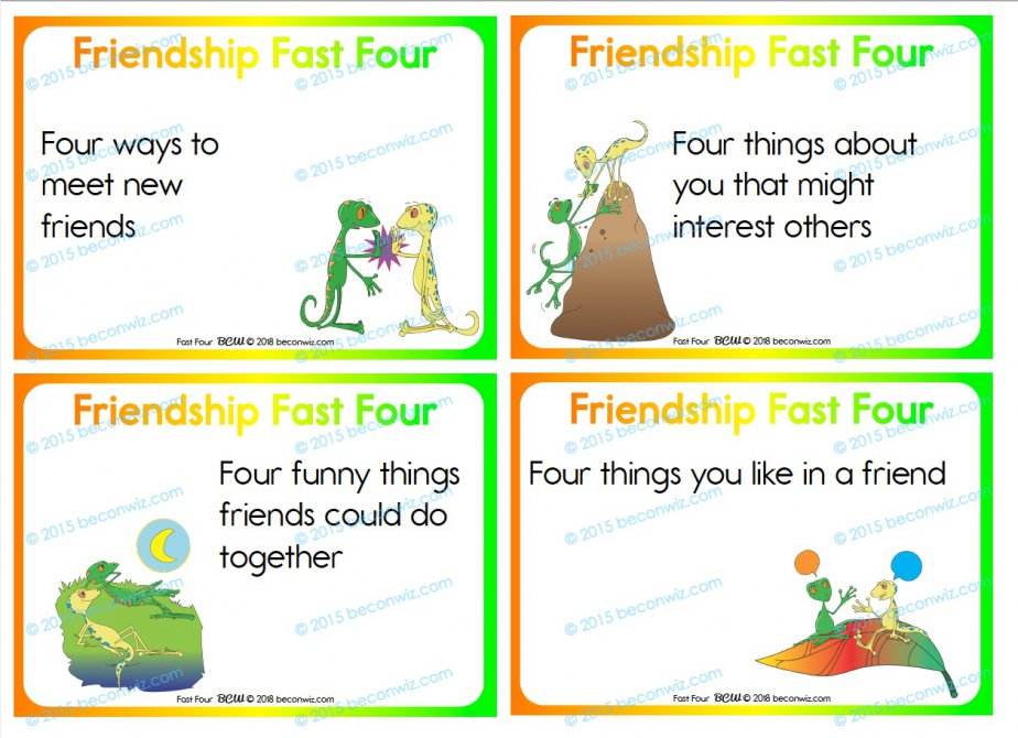 FRIENDSHIP FAST FOUR