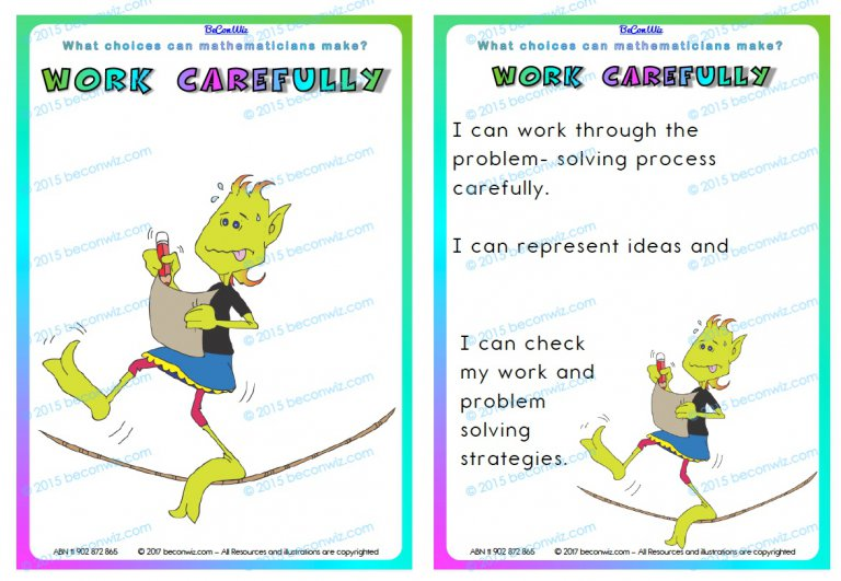 MATH PRACTICES CARDS MIDDLE PRIMARY