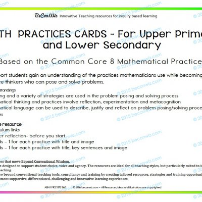 MATH PRACTICES CARDS UPPER PRIMARY