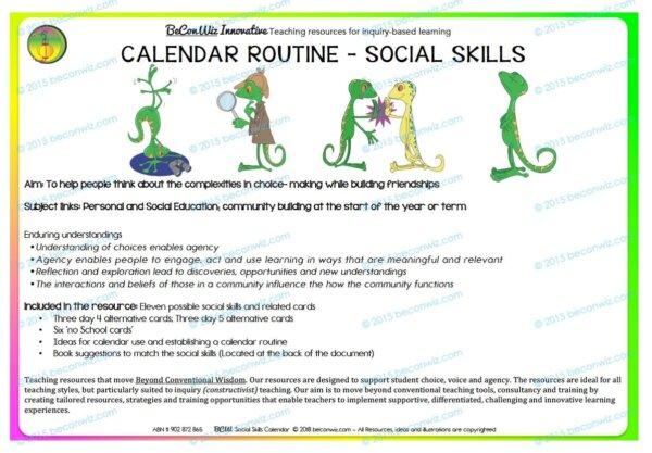 SOCIAL SKILLS CALENDAR ROUTINE