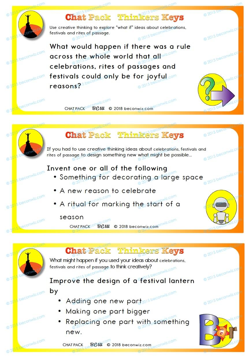 Celebrations, Festivals and Rites of Passage – Chat pack