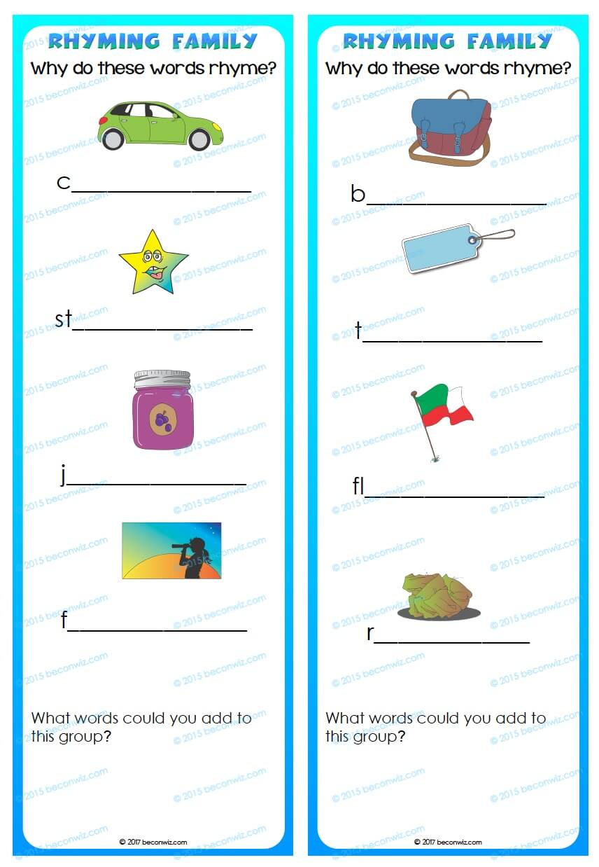 Rhyme Activities - Testing Ideas