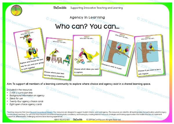 AGENCY IN LEARNING - WHO CAN? YOU CAN... CARDS,