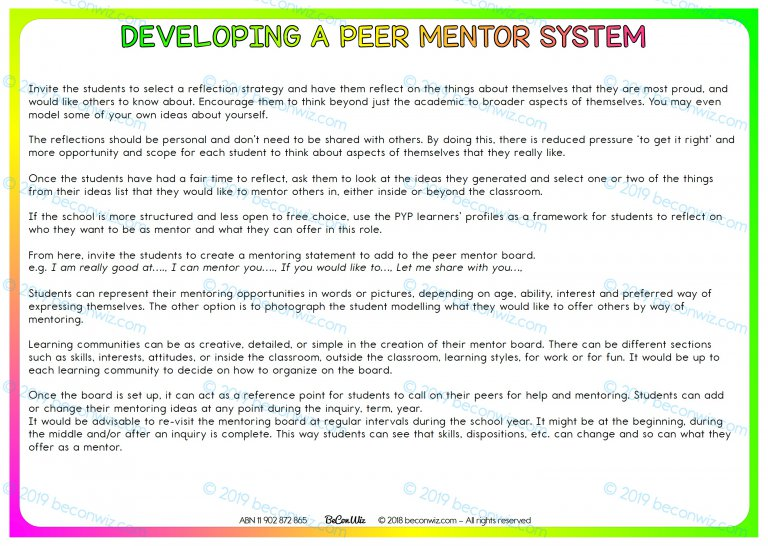 AGENCY IN LEARNING Active Agents- Peer mentoring