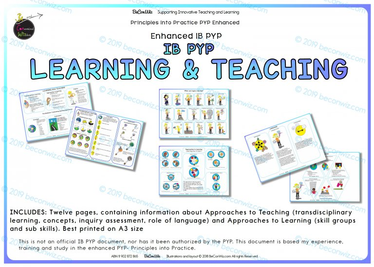 IB PYP LEARNING and TEACHING