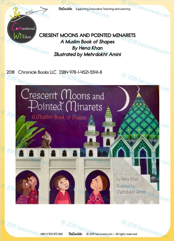 READING ACTIVITIES - CRESCENT MOONS AND POINTED MINARETS