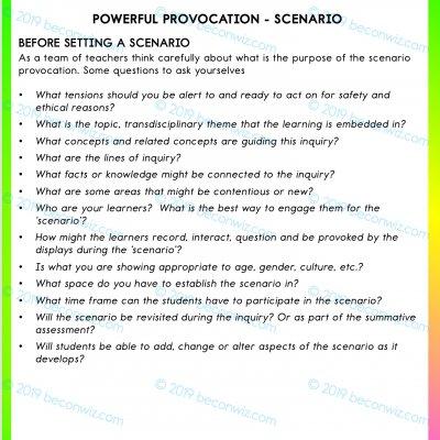 POWERFUL PROVOCATIONS: SCENARIOS