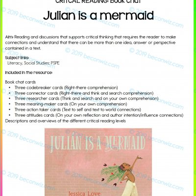 READING – BOOK CHAT - JULIAN IS A MERMAID
