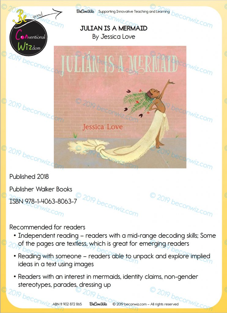 READING ACTIVITIES – JULIAN IS A MERMAID